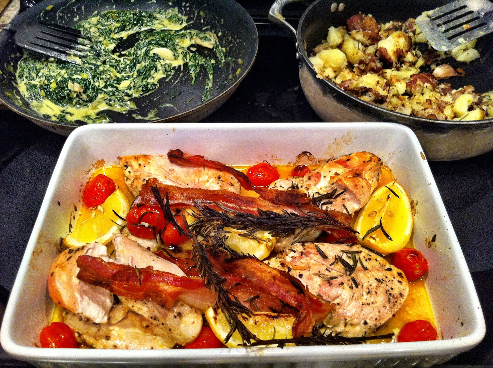 Playing With My Food Baked Chicken With Creamed Spinach