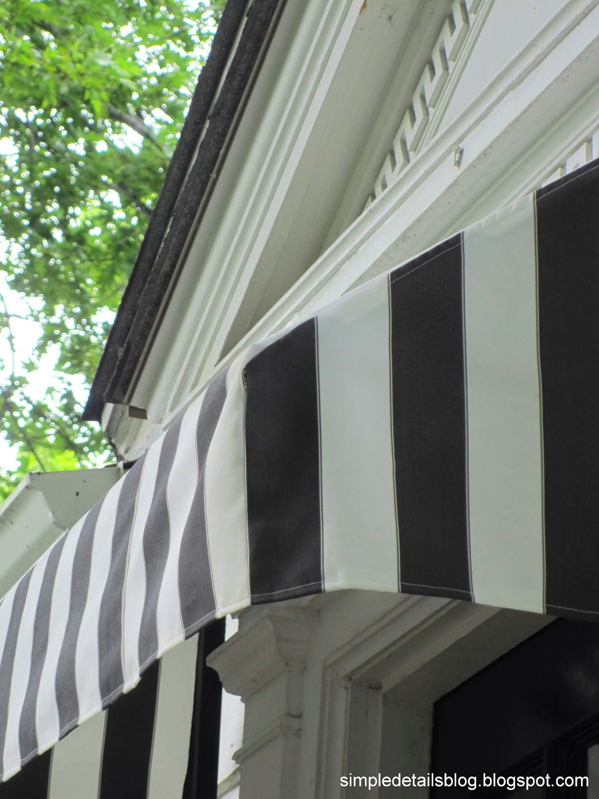 Simple Details: diy black and white awning reveal...