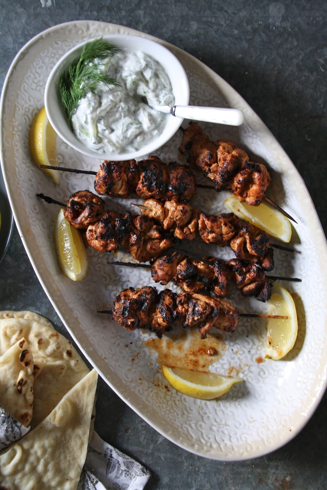 salted sugared spiced™: Yogurt Marinated Chicken Skewers ...