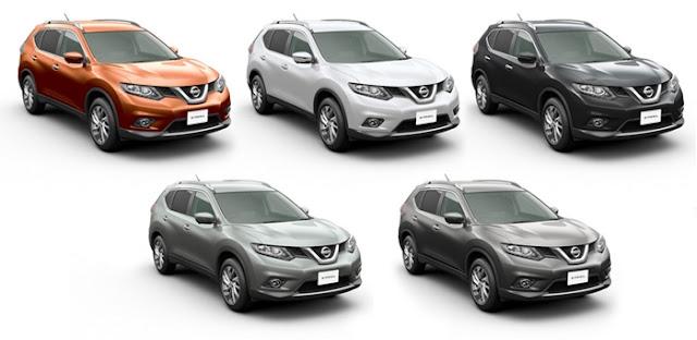 Macam-macam warna All New Nissan X-Trail Mobil SUV
