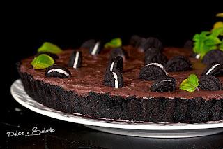 Tarta de Oreo y Chocolate Fácil