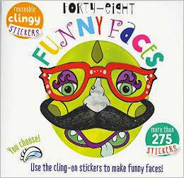 Forty-eight Funny Faces: Use the Cling-on Stickers to Make Funny Faces!