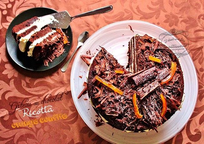 Gateau chocolat oranges confites