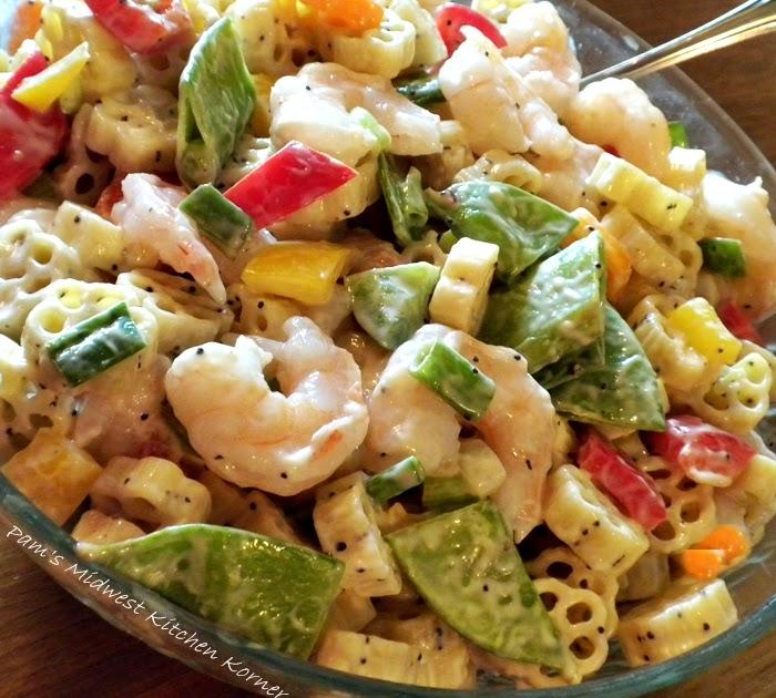 Pam's Midwest Kitchen Korner: Honey Poppy Seed Pasta Salad