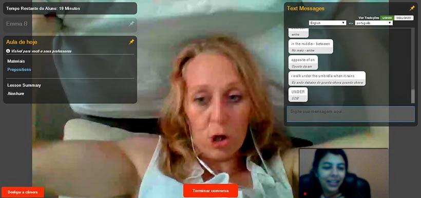 Como melhoramos o inglês em um curso de imersão on-line