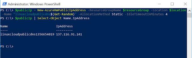 Setup Public IP (random)
