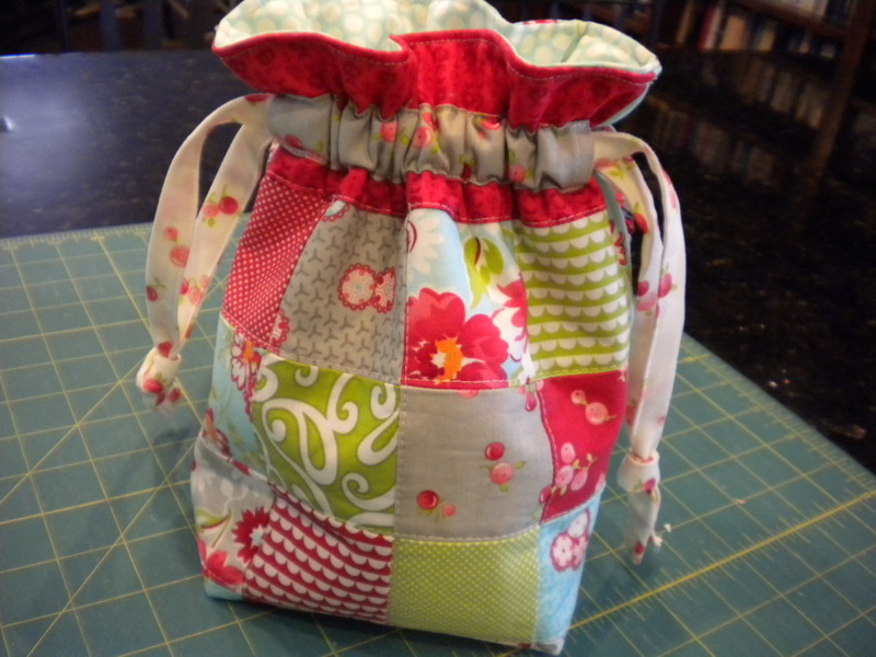 Patchwork Gift Bag Tutorial - A Quilting Life 634e25c44ddb4