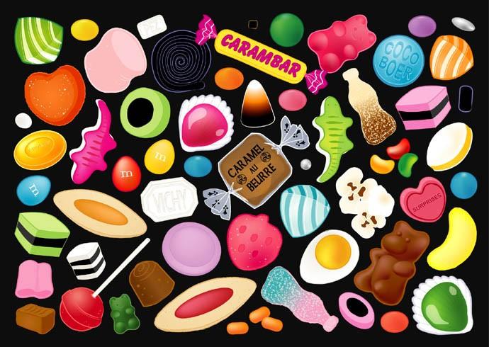 F tes gourmandes l 39 incroyable histoire des bonbons - Dessin de bonbons haribo ...
