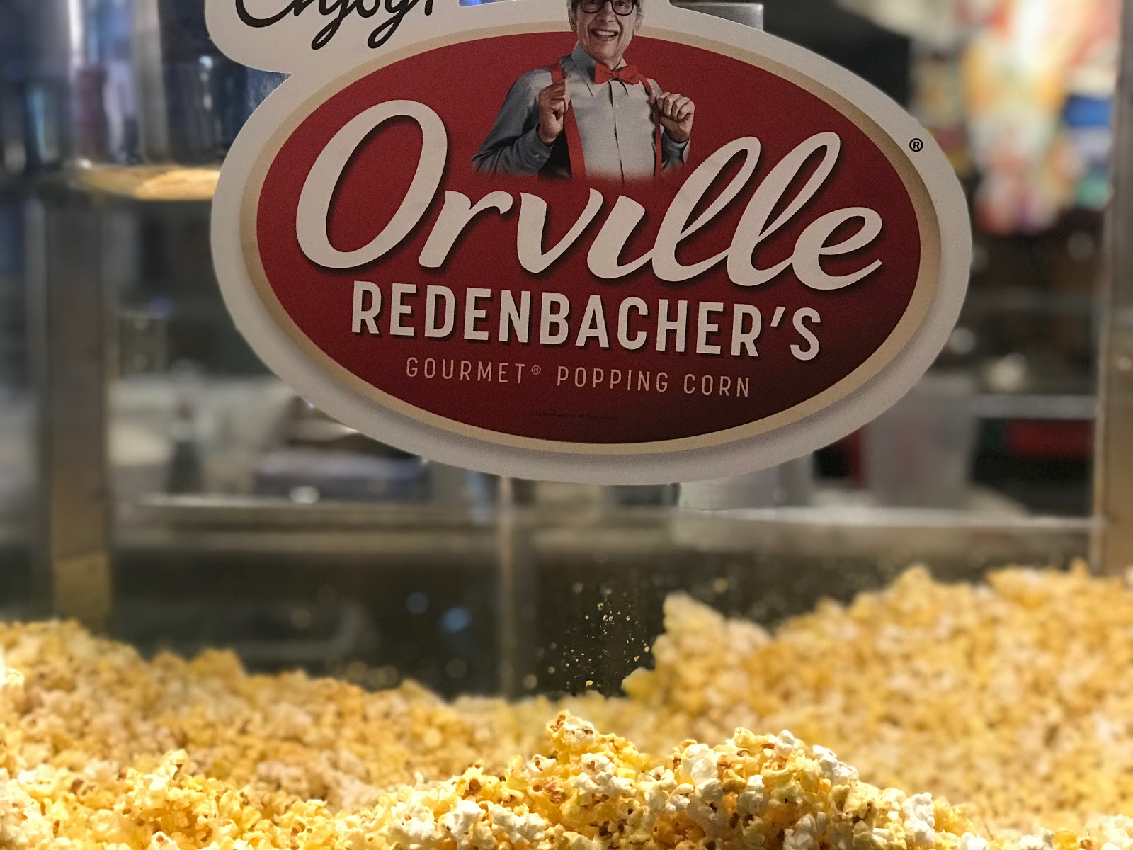 Image: Popcorn at the movies picture taken by Tangie Bell for blogpost on Bits and Babbles. Popcorn was Orvile Redenbacher