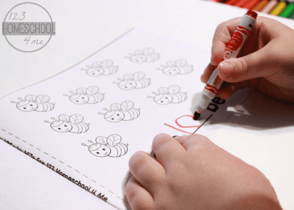 Preschool Bugs Counting Math Practice