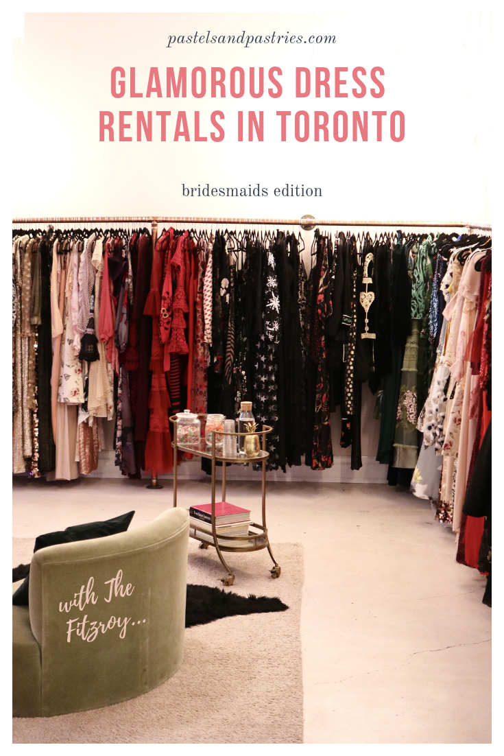 renting bridesmaids dresses in Toronto at the fitzroy