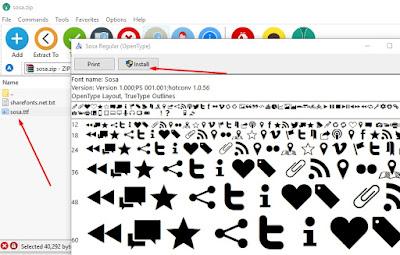 cara download dan install font