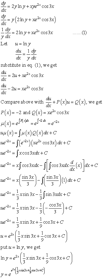 Differential Equations Solved Examples Determine The General