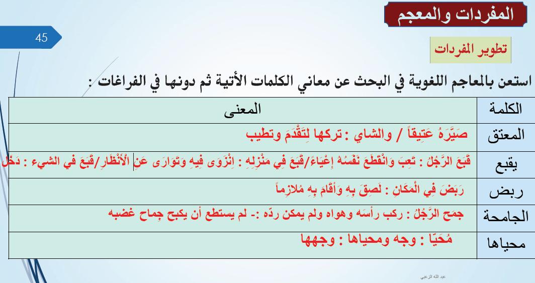 حل درس السماور لغة عربية للصف الثاني عشر