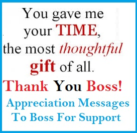 support what to write in a thankyou card to boss
