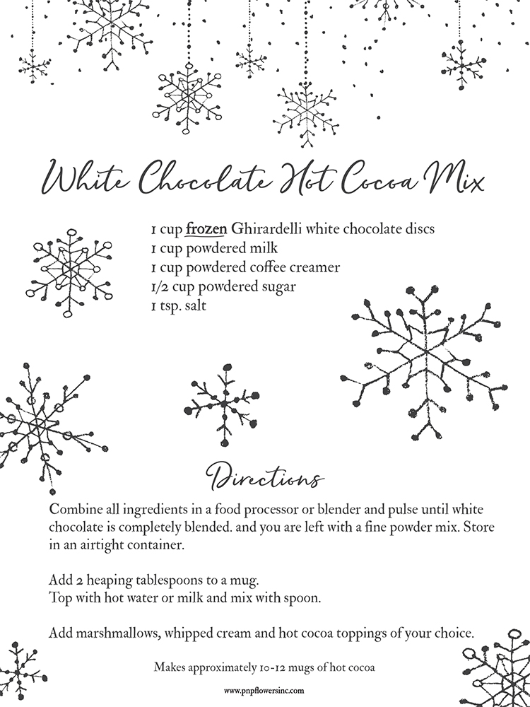 RECIPE | White Chocolate Hot Cocoa Mix