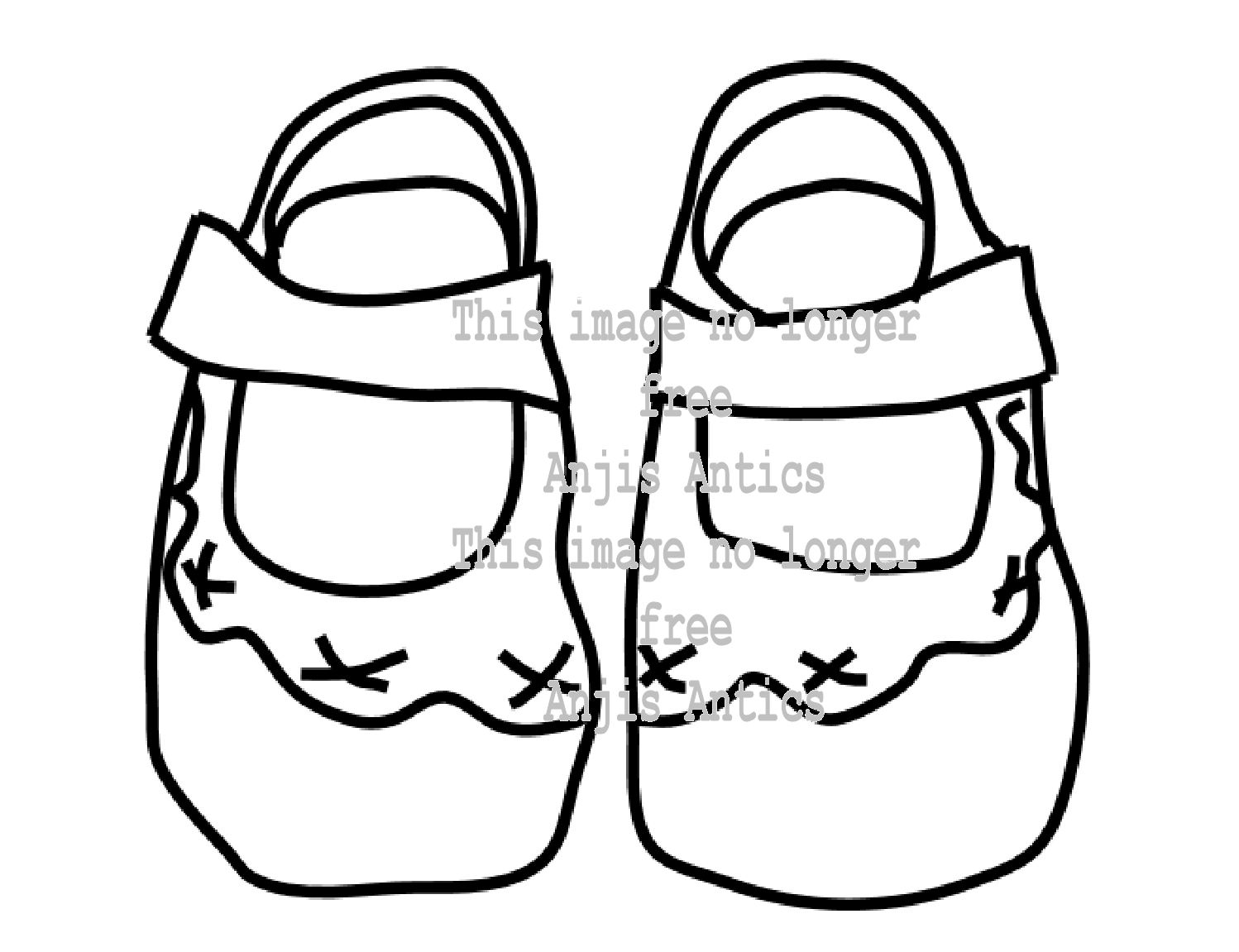 baby booties coloring pages - photo #18