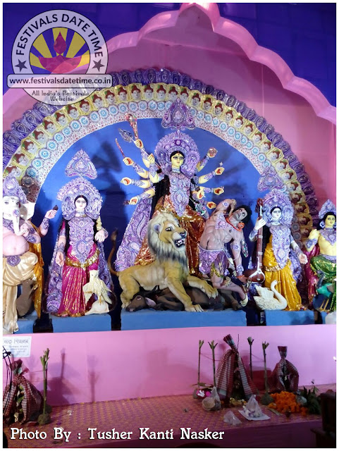 2016 Gabberia, Laxmikantapur Durga Murti Photo in West Bengal