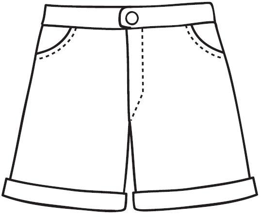 Colorear Dibujo Pantalón En Línea: Dibujos Para Colorear De PANTALONES