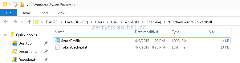 Terry L@u's blog: The cached Microsoft Azure account