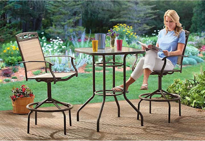 CASTLECREEK 3 Piece Patio Bistro Dining Set Bar Height
