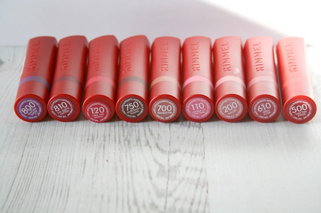 Rimmel Only 1 Matte Lipstick Collection