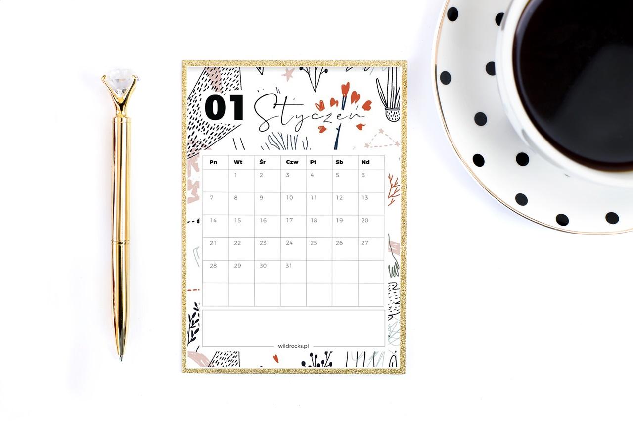 piękny planer 2019 / kalendarz 2019 do druku do pobrania za darmo