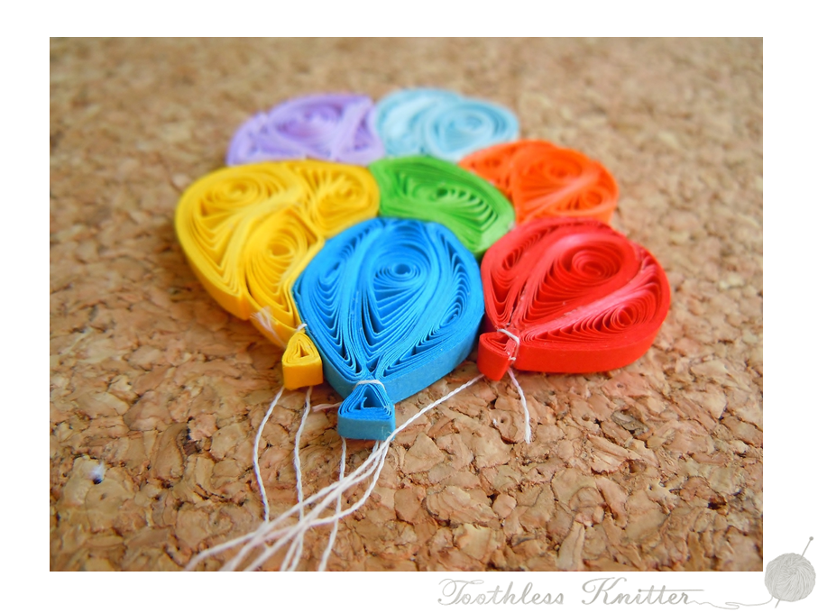 Quilled Balloons / Quillingowe Balony