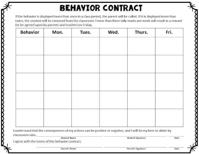 How do you deal with a difficult student at the secondary level? We don't do cute behavior incentives in high school, and other behavior interventions haven't been effective. Therefore, I'm sharing the behavior contract I created that I used with a couple of particularly difficult students. Click through to read about the contract and download it!