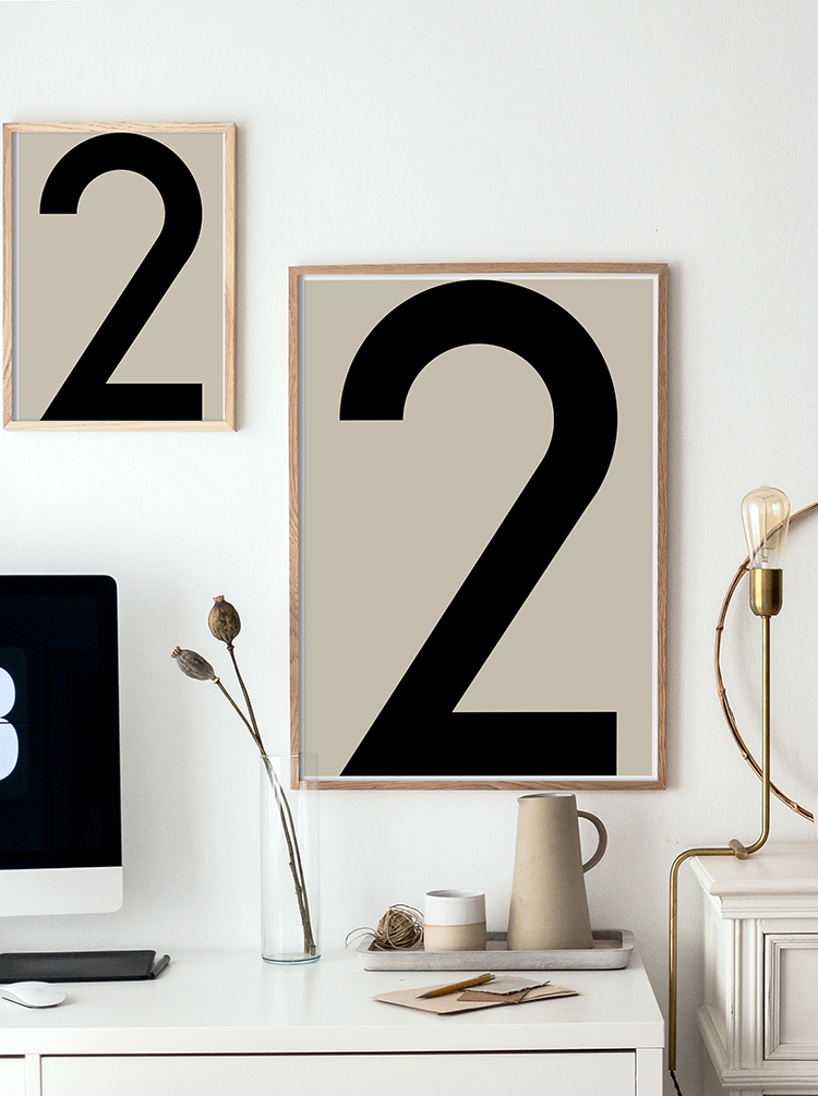 NUMBER Prints, Modern Typography Art Print, Printable Minimalist Poster, Beige and Black Scandinavian Art Print, Large Wall Art, Graphic Art. Studio Paradissi on Etsy