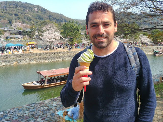 Río de Uji. Helado de té verde