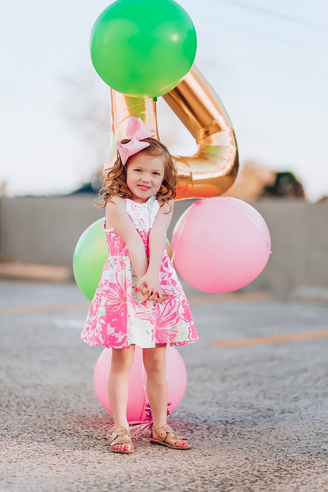 Madeline's 4th Birthday wearing Lilly Pulitzer - Something Delightful Blog