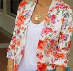 Padrão Floral em blazer
