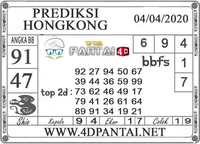PREDIKSI TOGEL HONGKONG PANTAI4D 04 APRIL 2020