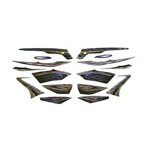 Idola Striping Motor for Yamaha Vixion 2010 - Hitam Silver
