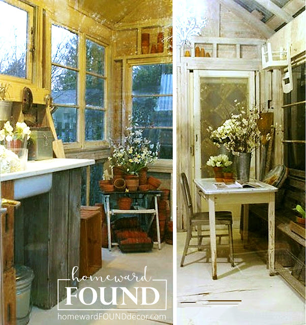 raid the garden shed for materials to use in your spring decorating - inside and out! homewardFOUNDdecor