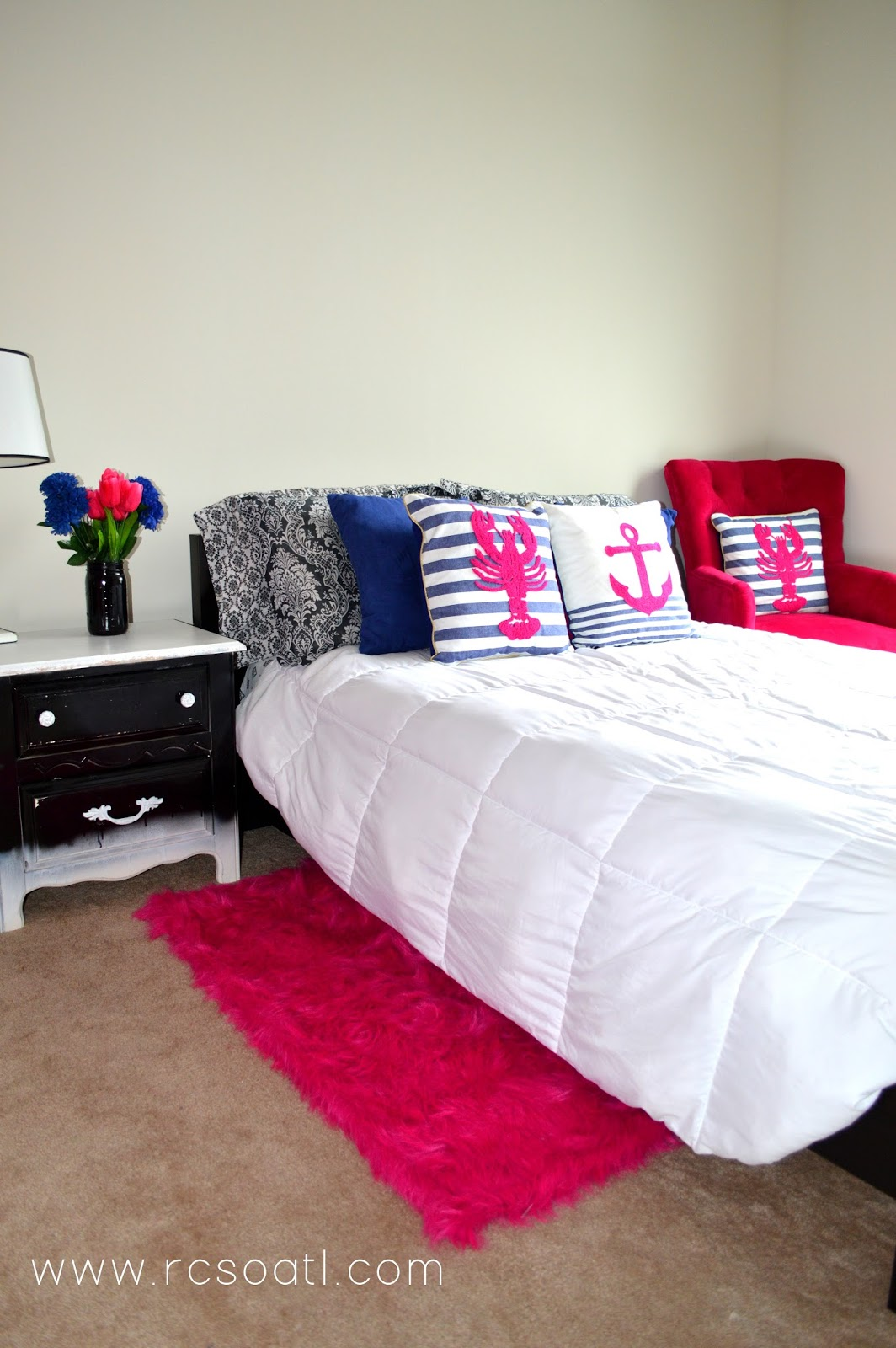 real college student of atlanta my new room hot pink 20568 | hot 2bpink 2band 2bblue 2bbedroom 2bdecor 2b2 jpg