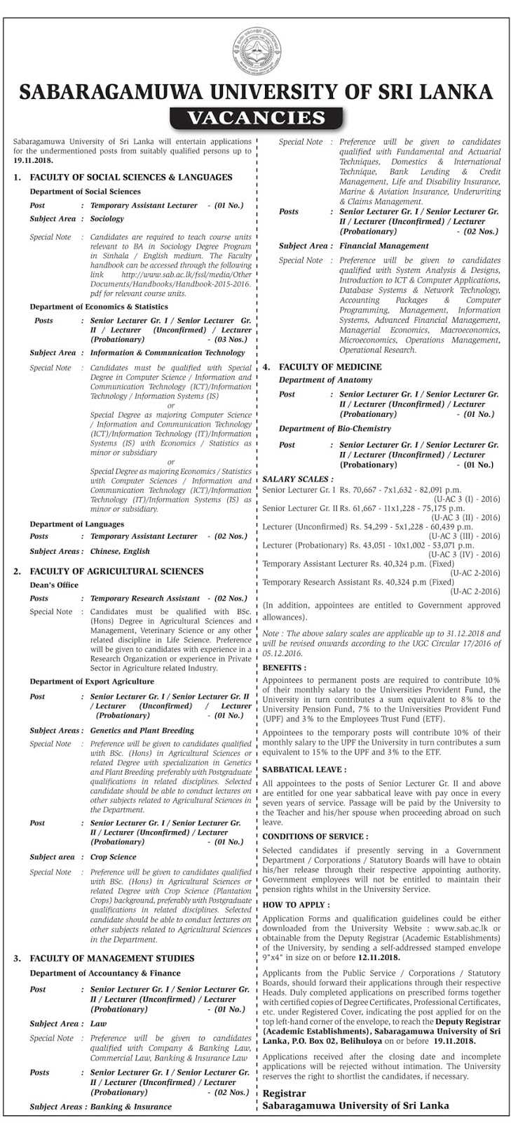 Government Job Vacancies
