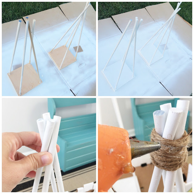 DIY Tee Pee Tree