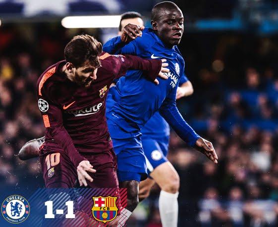 Risultati Champions di ieri sera: Chelsea-Barcellona 1-1, il Bayern a valanga sul Besiktas
