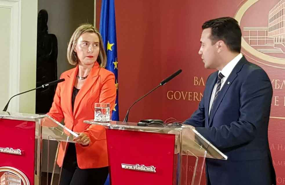 Mogherini: Macedonia can settle name dispute by late June