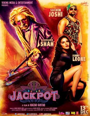 Poster Of Jackpot 2013 Hindi 400MB DVDRip 720p HEVC Watch Online Free Download downloadhub.in