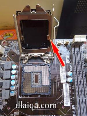 buka pelindung socket processor