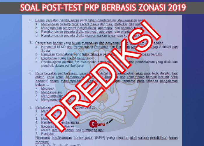 GAMBAR soal post test PKP dan kunci jawaban