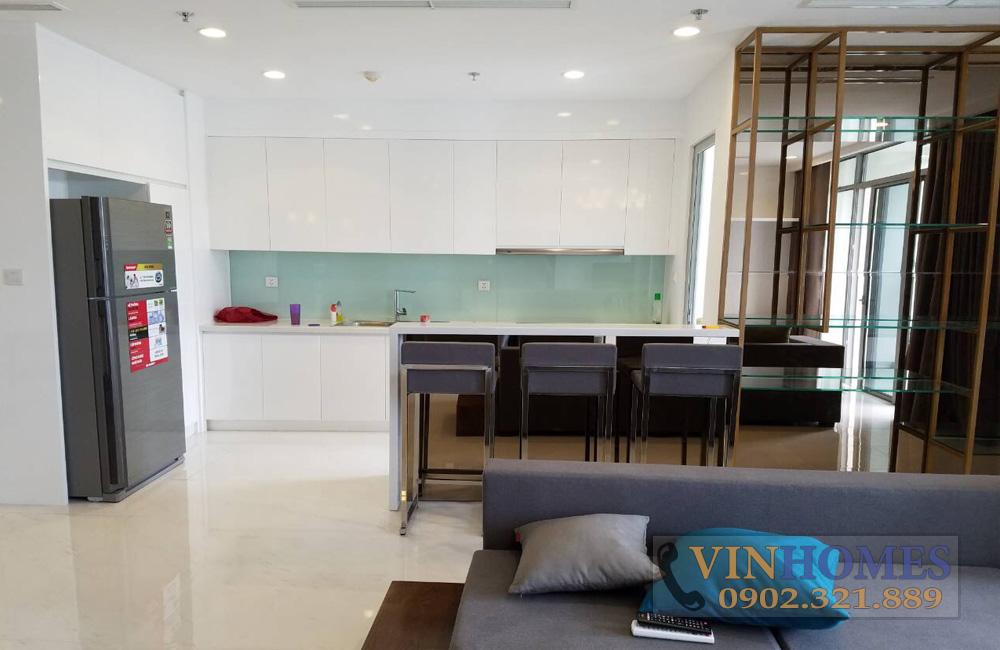 Bán căn hộ 3PN tòa nhà The Central 3 - phòng khách view bếp