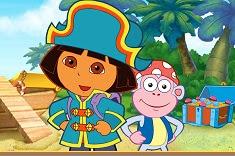 Dora Pirate Boat Treasure Hunt