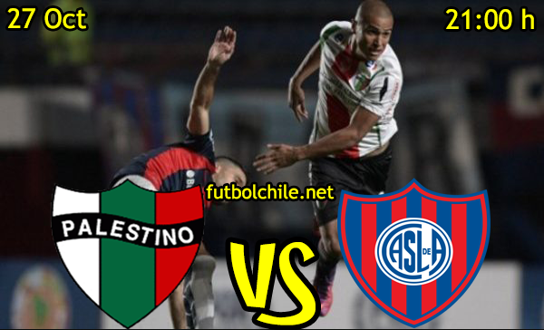 Ver stream hd youtube facebook movil android ios iphone table ipad windows mac linux resultado en vivo, online:  Palestino vs San Lorenzo