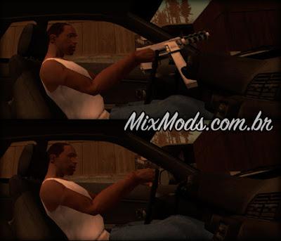 mod cleo dirigir sem armas esconder armas enquanto dirige gta sa