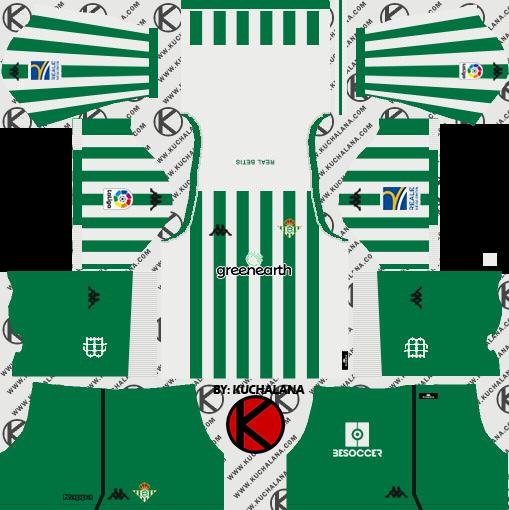 2ca8d113687 Real Betis 2018 19 Kit - Dream League Soccer Kits - Kuchalana
