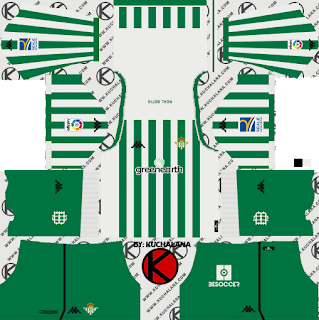 and the package includes complete with home kits Baru!!! Real Betis 2018/19 Kit - Dream League Soccer Kits